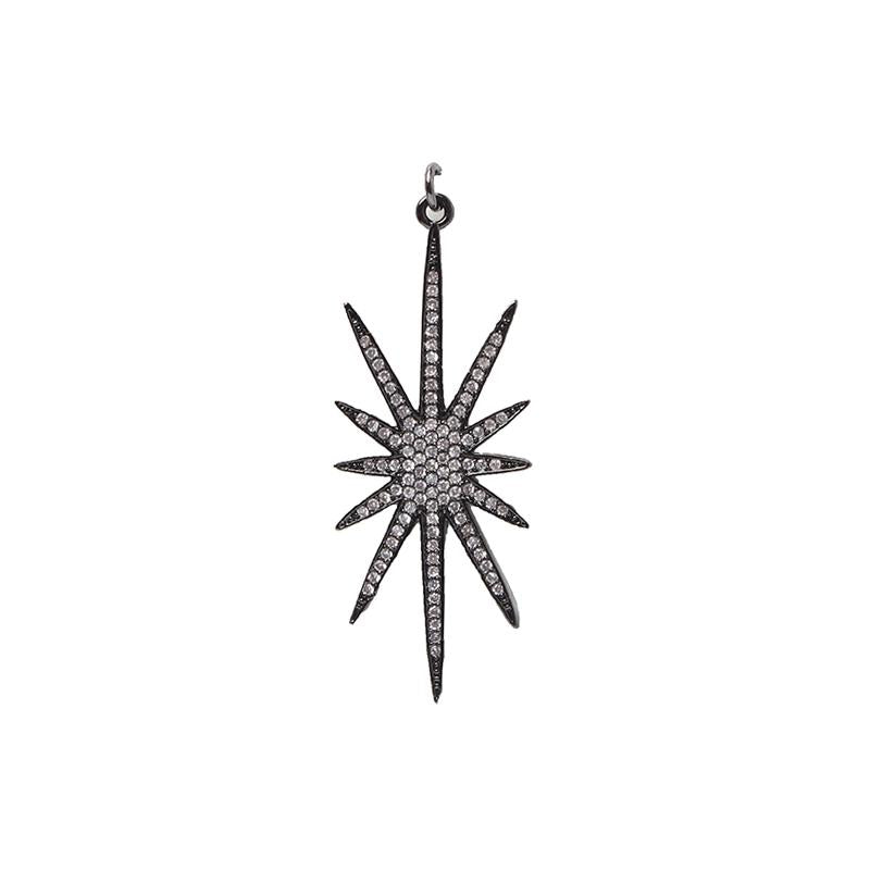 Hematite Starburst Pendant | OMG | Fashion Accessories | Pendant