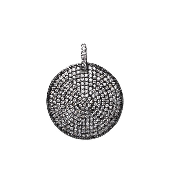 Hematite Color Circle Pendant | B & M | Fashion Accessories | Pendant