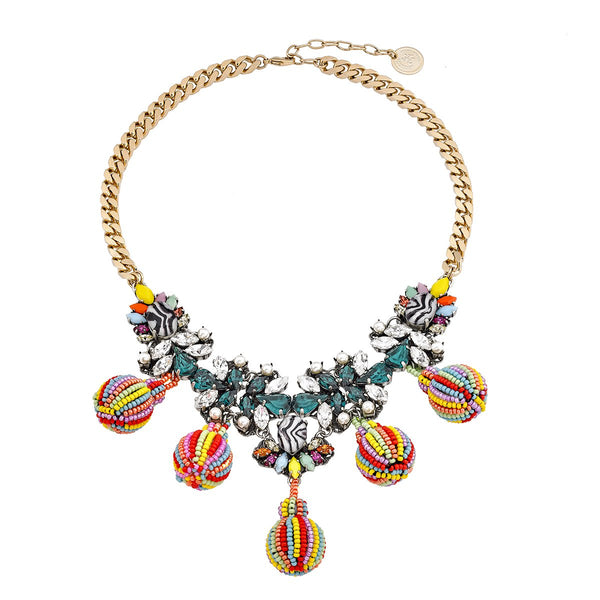 African Bead Ball Necklace | Anton Heunis |Fashion Accessories |Necklaces