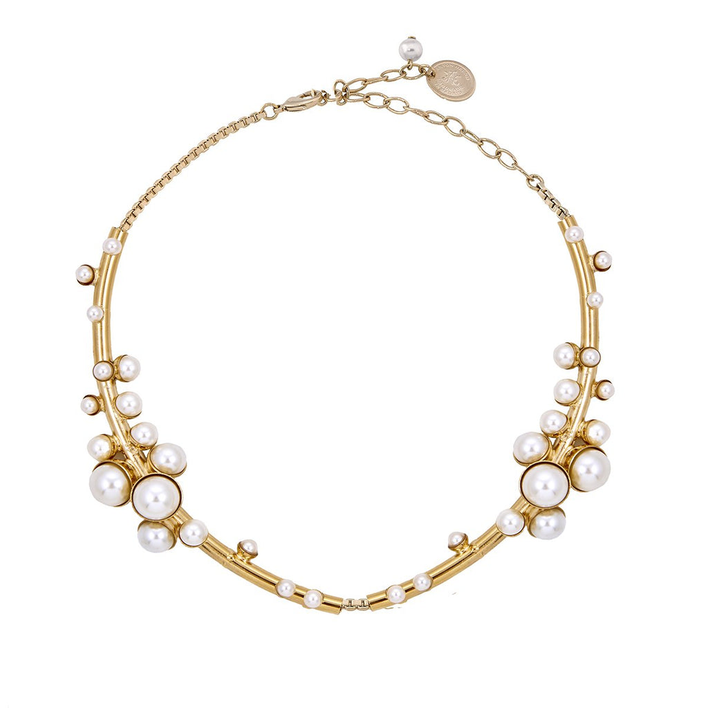 Pearls And Blue Choker | Anton Heunis |Fashion Accessories |Necklaces