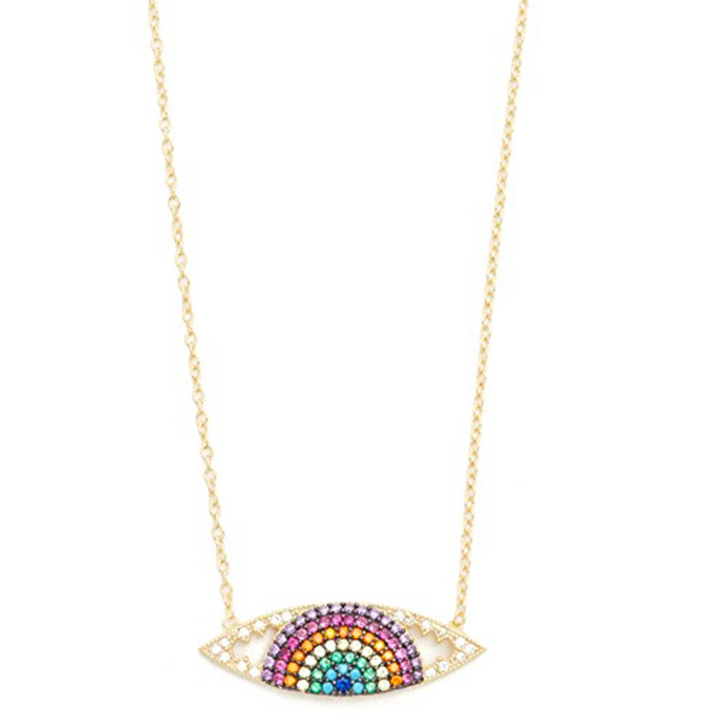 Rainbow Eye Necklace | Shashi |Fashion Accessories | Necklace