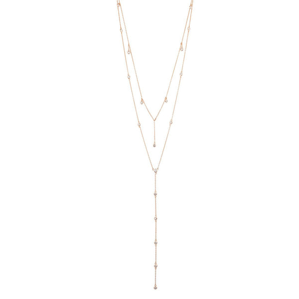 Diamond Dangle Lariat Necklace | Shashi | Fashion Accessories | Necklace
