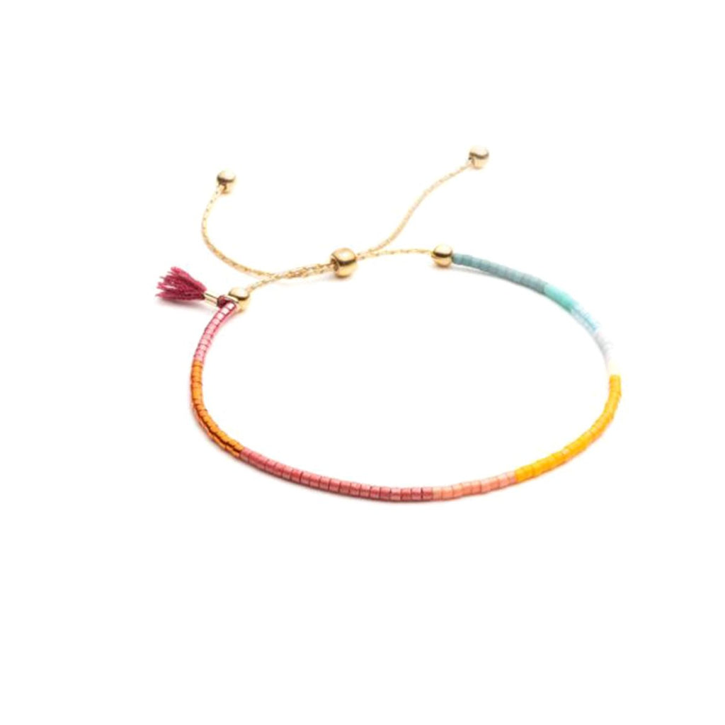 Sam Chain Bracelet Wine | Shashi | Fashion Accessories | Bracelets