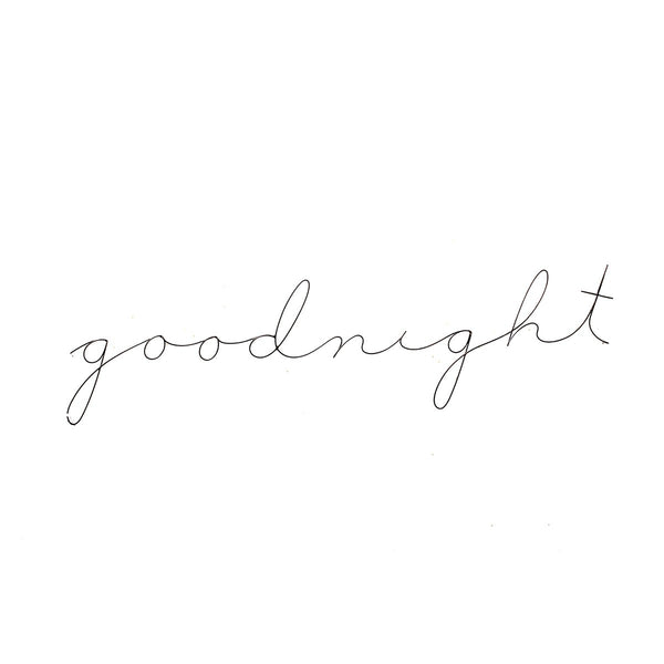 Goodnight Poetics Extra Long | Gauge | Wall Decor | Home Accessories