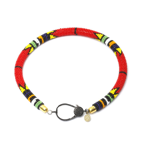 Kenya red choker | Karli Buxton |Fashion Accessories | Necklaces