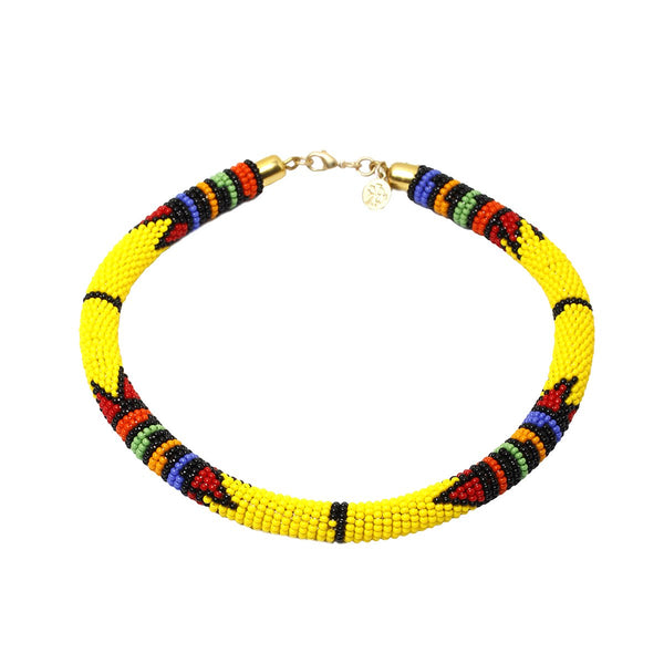 Kenya yellow necklace | Karli Buxton |Fashion Accessories | Necklaces