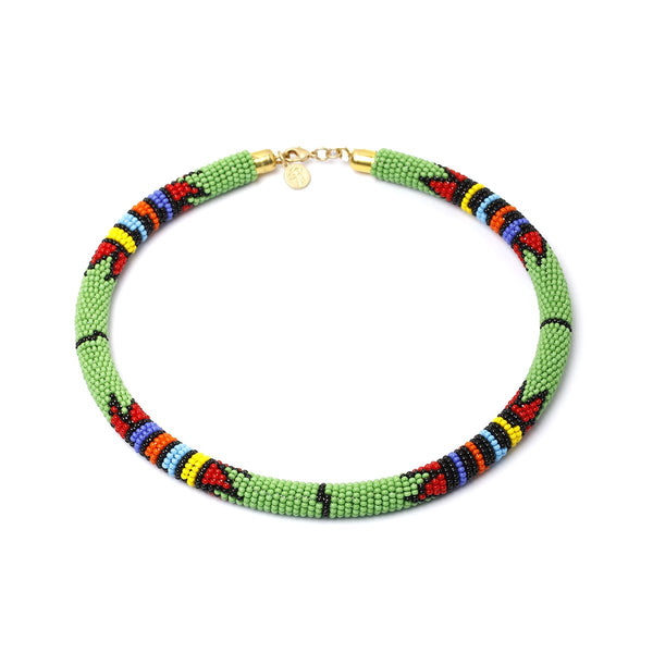 Kenya green necklace | Karli Buxton |Fashion Accessories | Necklaces