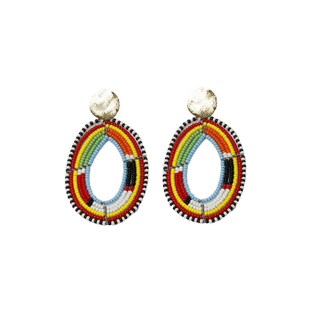 Kenya beaded drops earrings | Karli Buxton |Fashion Accessories | Earrings