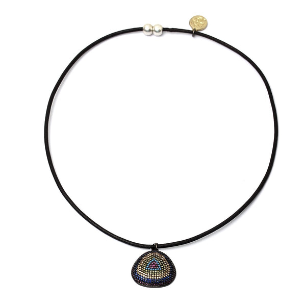 Dainty black rainbow charm necklace | Karli Buxton |Fashion Accessories | Necklaces