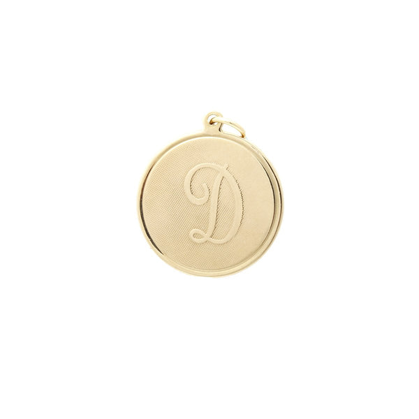 Letter D On Gold Coin Pendant | Hypso | Fashion Accessories | Pendant