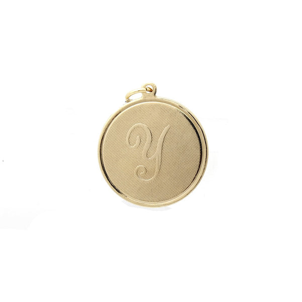 Letter Y On Gold Coin Pendant | Hypso | Fashion Accessories | Pendant