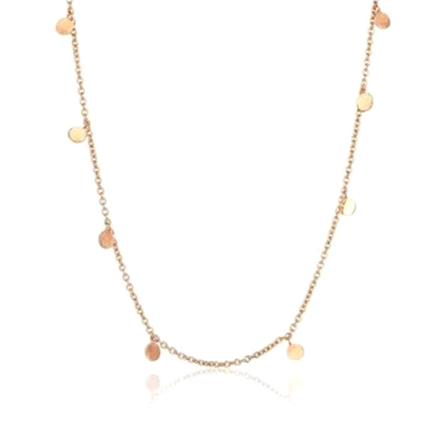 14K Rose Gold Dangle Circle Necklace | Kismet By Milka Consignment | Fine Jewelry | Earring