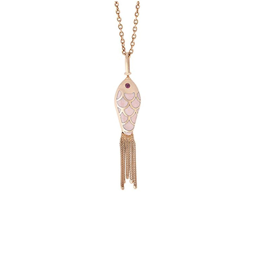 18K Rose Gold Fish For Love Necklace | Selim Mouzannar |Fine Jewelry | Neckalace