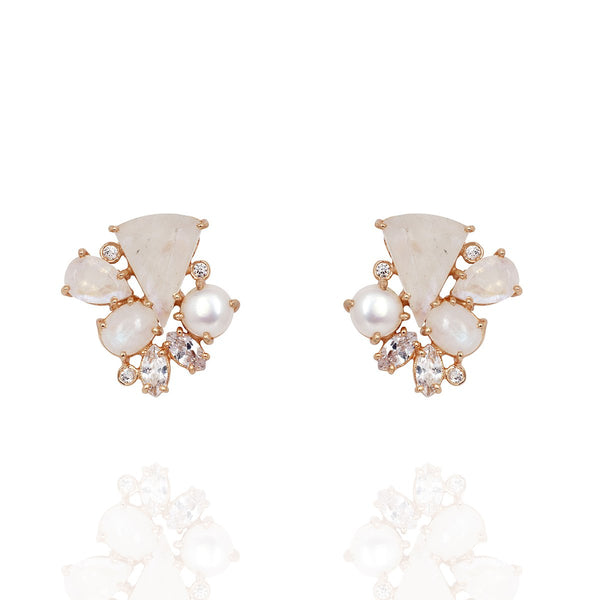 Moonstone And Pearl Earrings | Atelier Mon | Fashion Accessories | Earrings