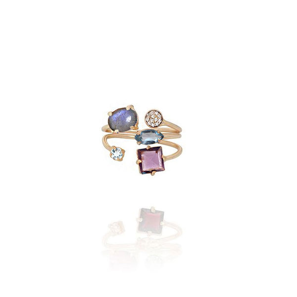 Smoky Topaz And Amethyst Ring | Atelier Mon | Fashion Accessories | Ring