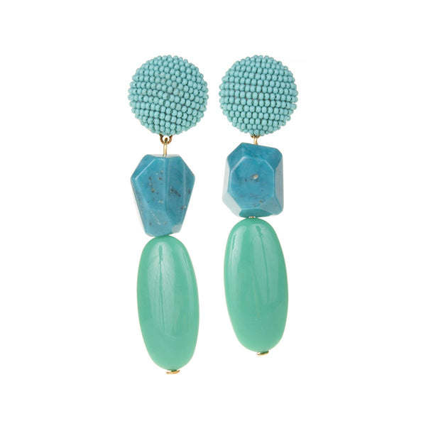 Medee turquoise earrings | Shourouk | Fashion Accessories | Earrings