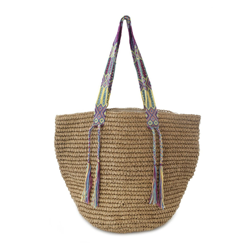 Gemma Straw Rainbow Beach Bag | Fallon & Royce | Beach Bag | Bag