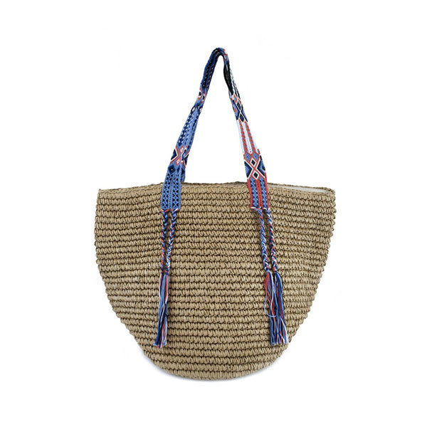 Gemma Straw Riviera Beach Bag | Fallon & Royce | Beach Bag | Bag