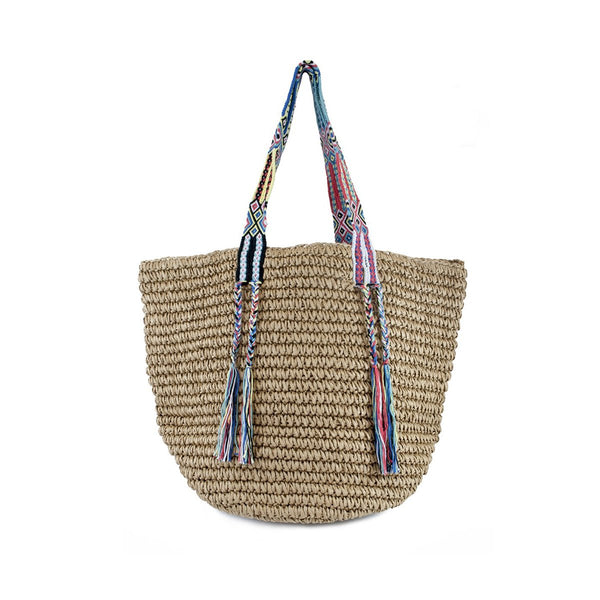 Gemma Straw Tropical Beach Bag | Fallon & Royce | Beach Bag | Bag