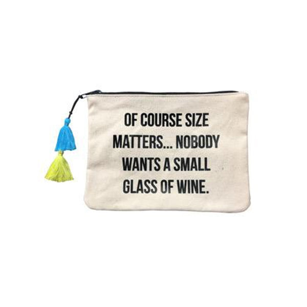 Of Course Size Matter Canvas Pouch | Fallon & Royce | Beach Bag | Bag