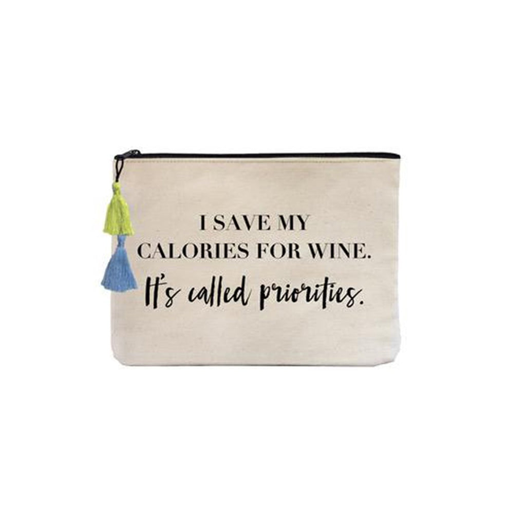 I Save My Calories Canvas Pouch | Fallon & Royce | Beach Bag | Bag