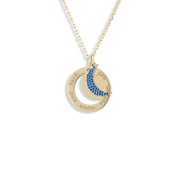 Moon Cutout Necklace | Lulu dk |Fashion Accessories |Necklace