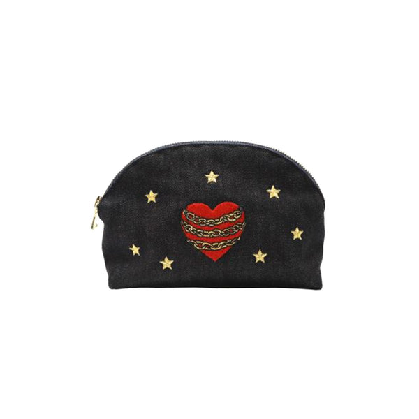Heart And Star Make Up Pouch | Lauren Moshi | Bag | Beauty Cases