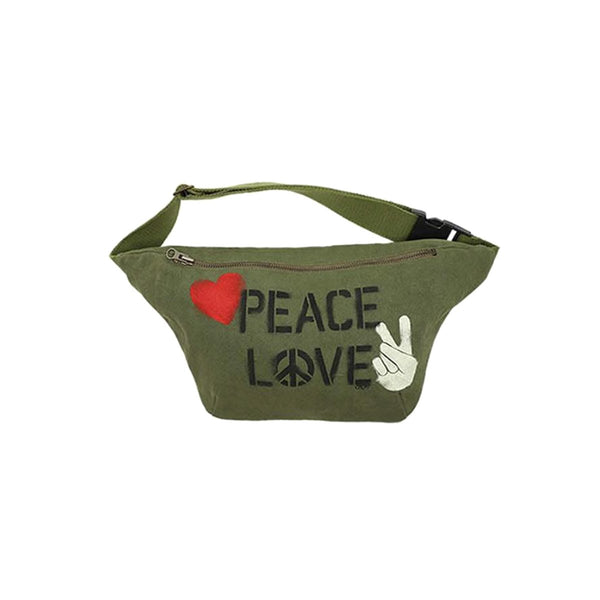 Spray Peace And Love Canvas Belt Bag | Lauren Moshi | Bag | Others