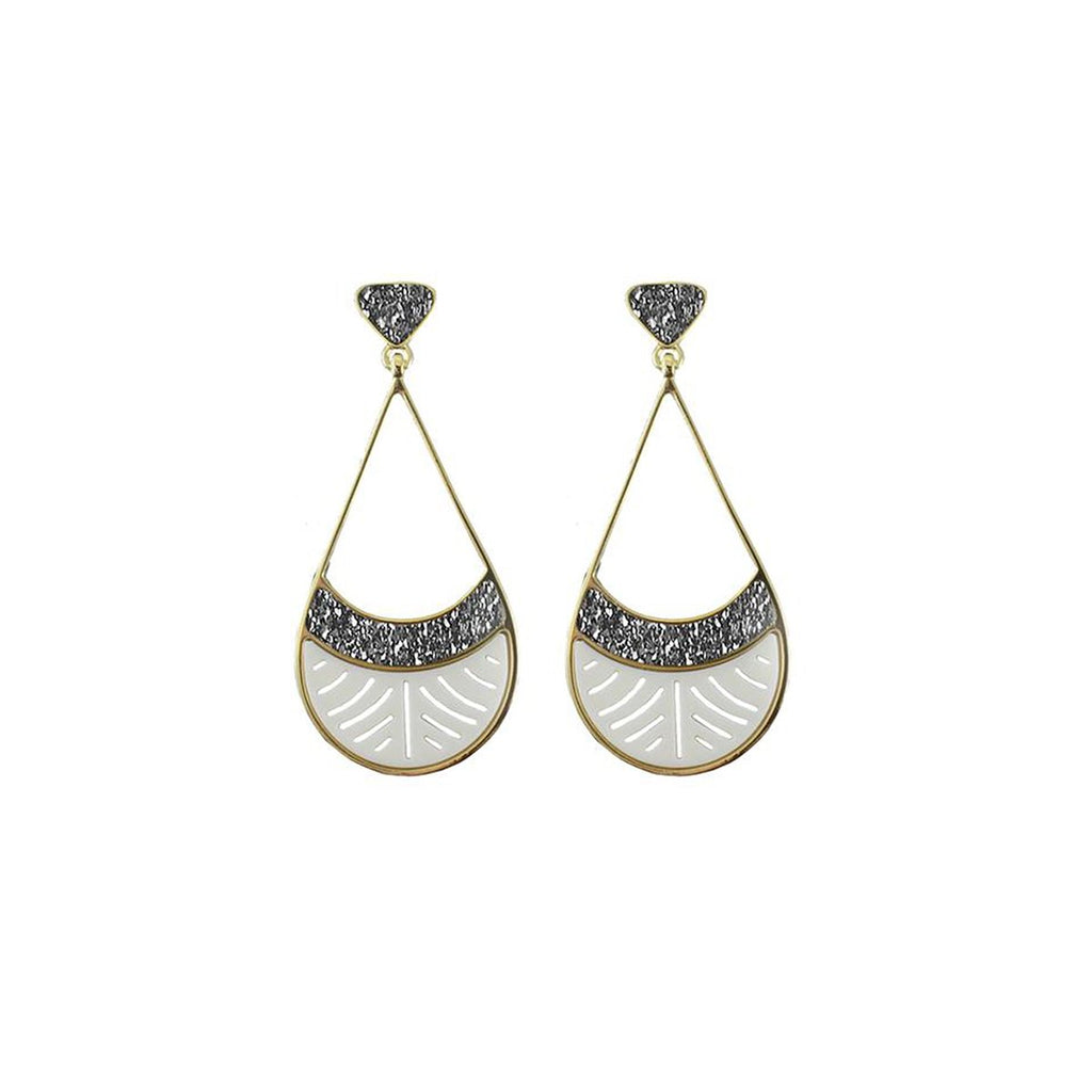 Open Drop Shape Earrings | Marcia Moran |Fashion Accessories |Earrings
