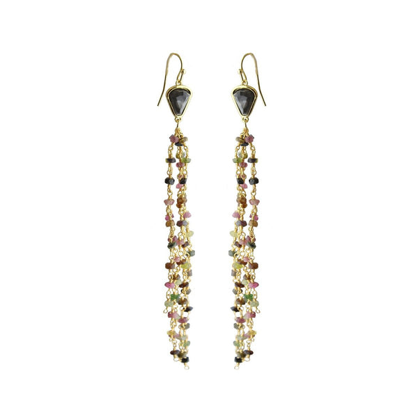 Beaded Fringe Earrings | Marcia Moran |Fashion Accessories |Earrings