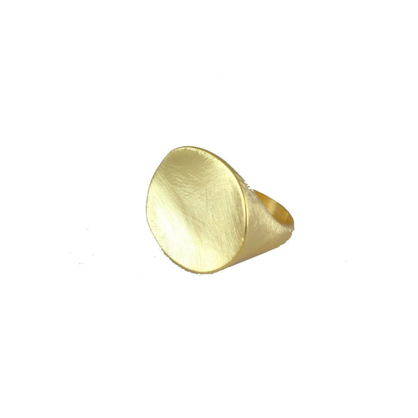 Brushed Gold Ring | Marcia Moran |Fashion Accessories |Rings