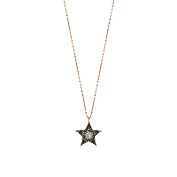 14K Rose Gold Sheriff Star Necklace | Kismet by Milka | Fine Jewelry Necklace