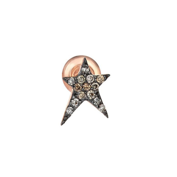 14K Rose Gold Struck Stud Earring | Kismet by Milka | Fine Jewelry Earrings