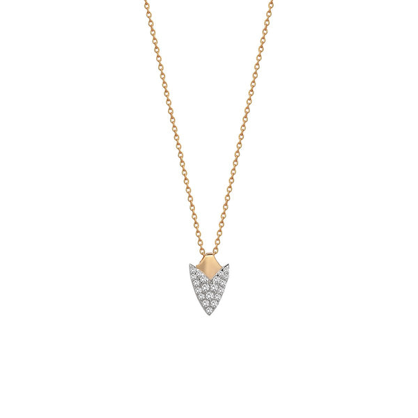 14K Rose Gold Arrowhead Necklace | Kismet by Milka | Fine Jewelry Necklace