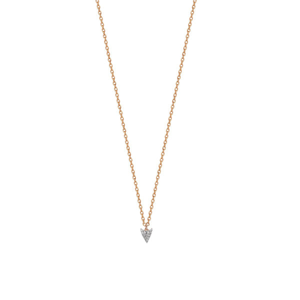 14K Rose Gold Arrow Tip Pave Necklace | Kismet By Milka | Fine Jewelry | Necklaces