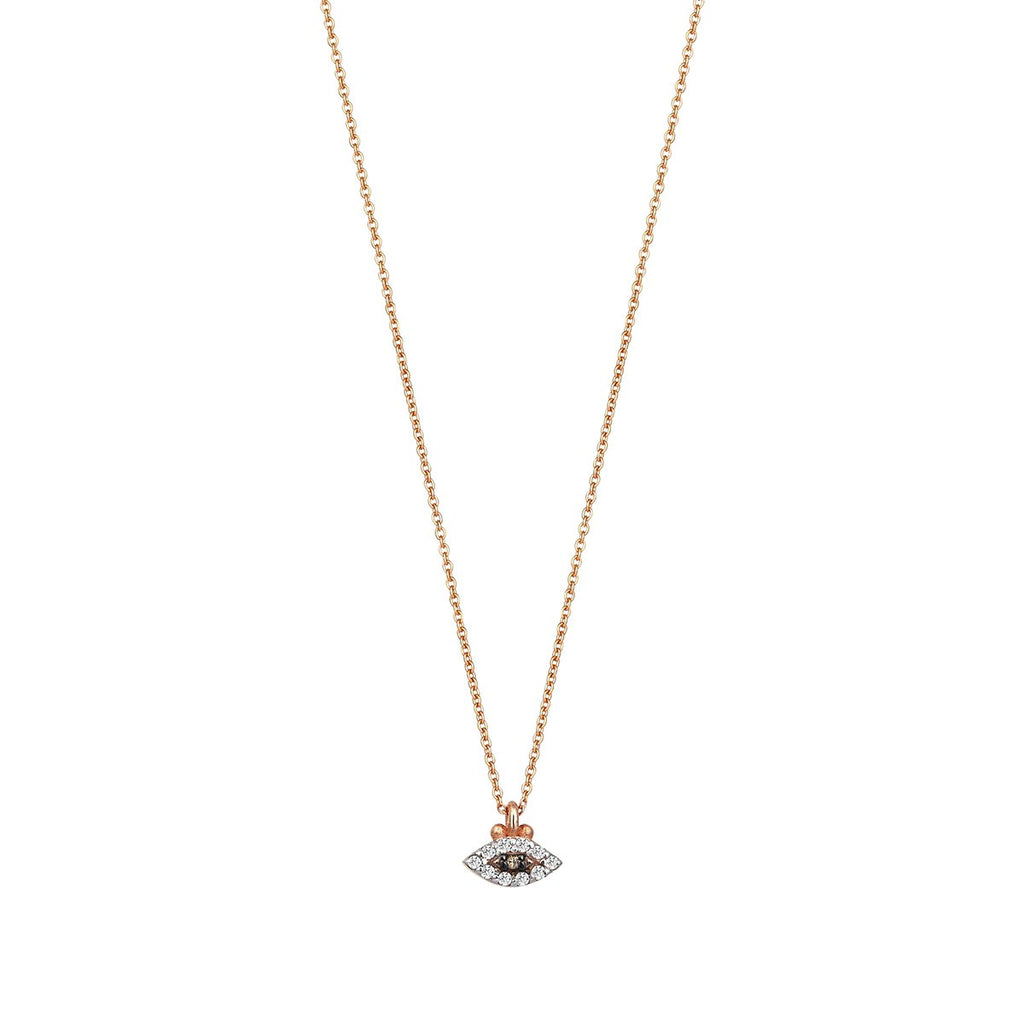 14K Rose Gold Eye Haven Necklace | Kismet By Milka | Fine Jewelry | Necklaces