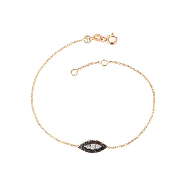 14K Rose Gold Eye Haven White Diamonds Bracelet | Kismet By Milka | Fine Jewelry | Bracelets