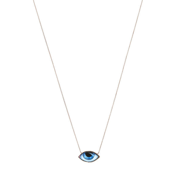 14K Gold Necklace With Enamelled Eye | Lito | Fine Jewelry | Necklaces