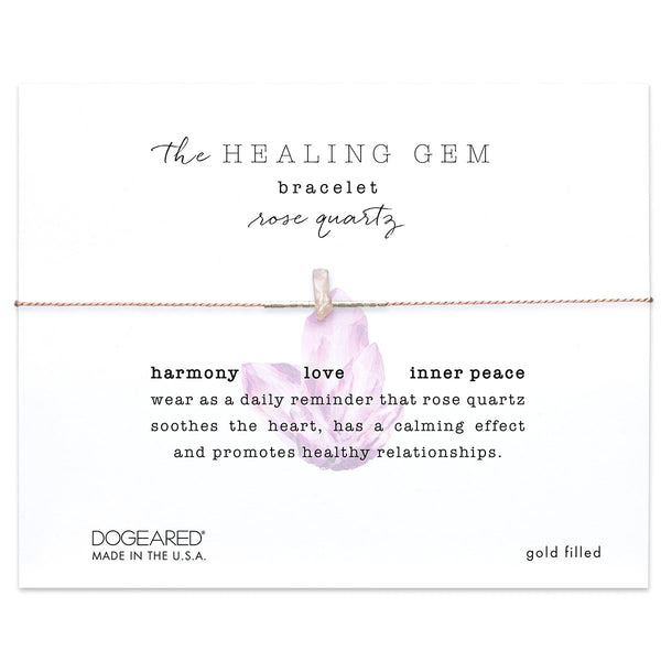 Healing Gems Rose Quartz Bracelet | Dogeared | Fashion Accessories | Bracelets