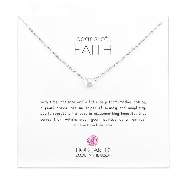 Pearls Of Faith Small Button Pearl Necklace | Dogeared | Fashion Accessories | Necklaces