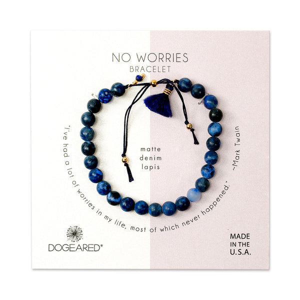 Navy No Worries Bracelet | Dogeared | Fashion Accessories | Bracelets