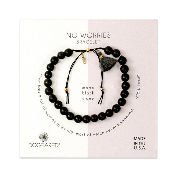 Black No Worries Bracelet | Dogeared | Fashion Accessories | Bracelets