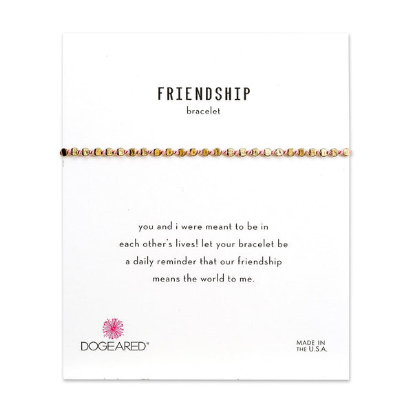 Pink Frienship Gold Bracelet | Dogeared | Fashion Accessories | Bracelets