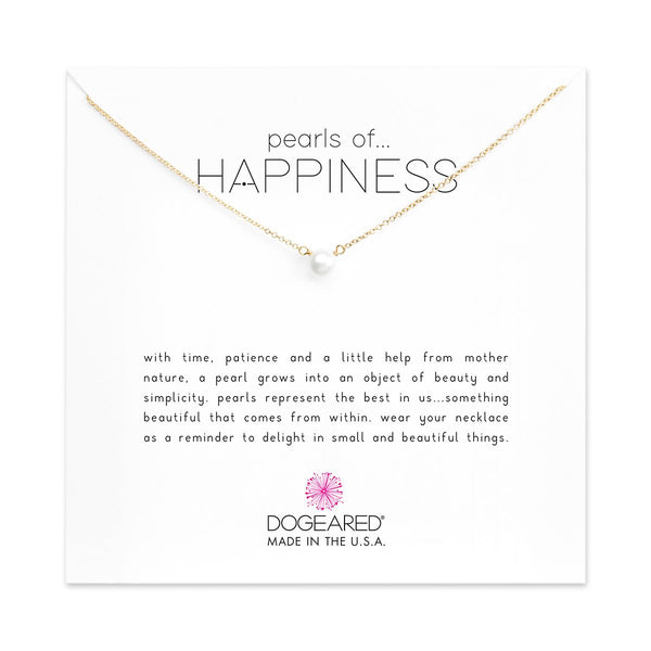 Pearls Of Happiness Gold Necklace | Dogeared | Fashion Accessories | Necklaces