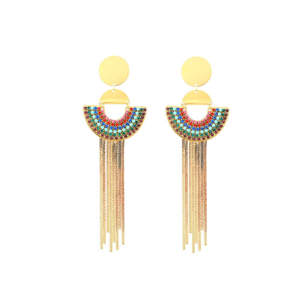 Rainbow And Tassel Earrings | Sandy Hyun | Fashion Accessories | Earrings