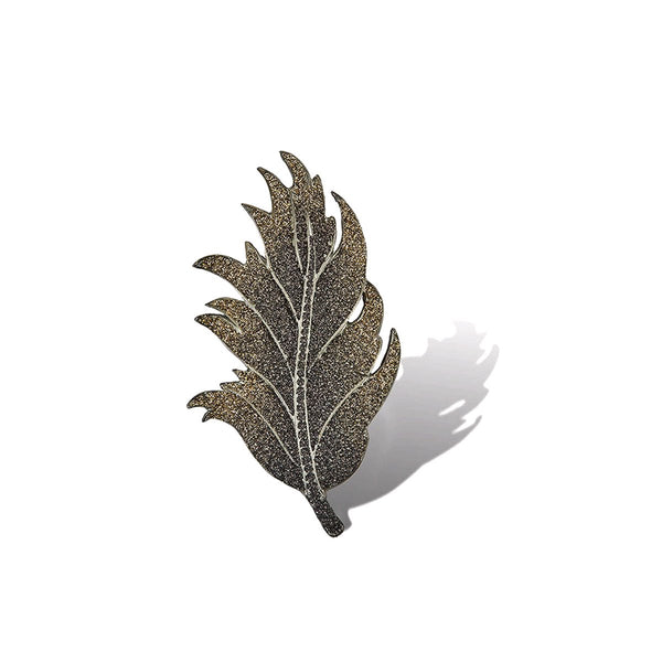 Livya Glitter Leaf Brooch | KMO | Fashion Accessories | Brooches