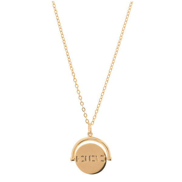 Believe Spin Charm Necklace | Lulu dk | Fashion Accessories | Necklace