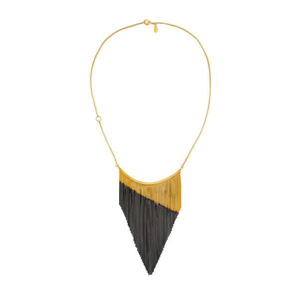 Triangle Fringe Necklace |Iosselliani | Fashion Accessories |Necklaces