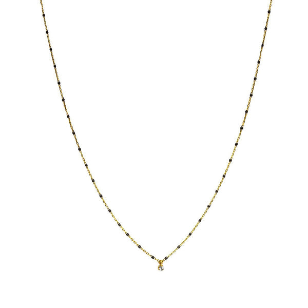 Black Enamel Chain Necklace | Tai | Fashion Accessories | Necklace