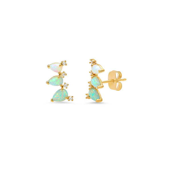 Egg Post Crawler Earrings | Tai | Fashion Accessories | Earrings